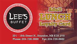 lees buffet loyalty card